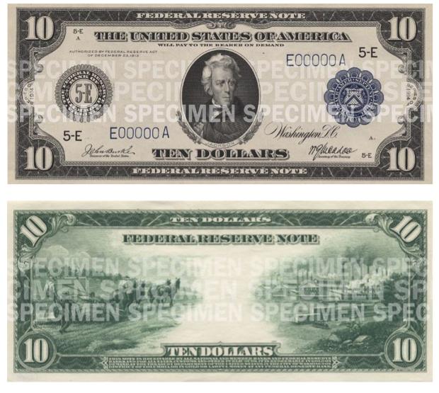 Billete de 10 dólares 1914 Presidente Jackson