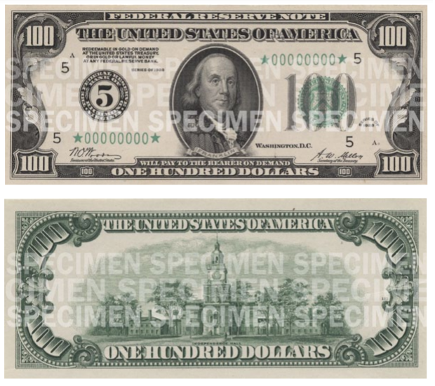 Billete de 100 dólares 1929 Benjamin Franklin