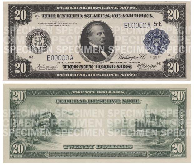 Billete de 20 dólares 1914 Cleveland
