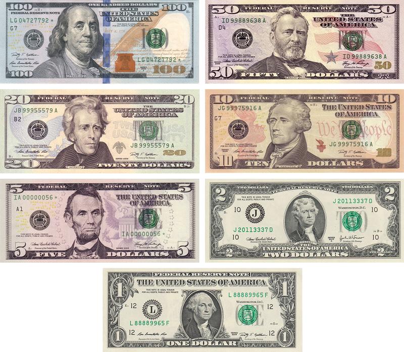 Billetes de dolar en circulacion
