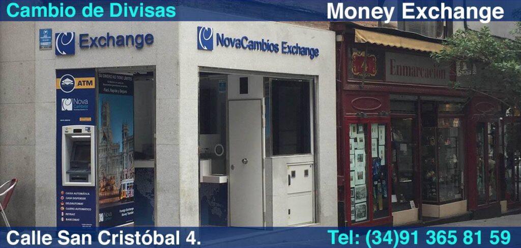 NovaCambios oficina de cambio calle San Cristobal Madrid