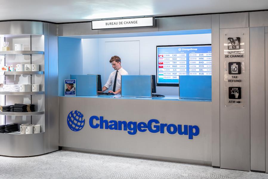Oficina de ChangeGroup en los grandes almacenes Harrods de Londres