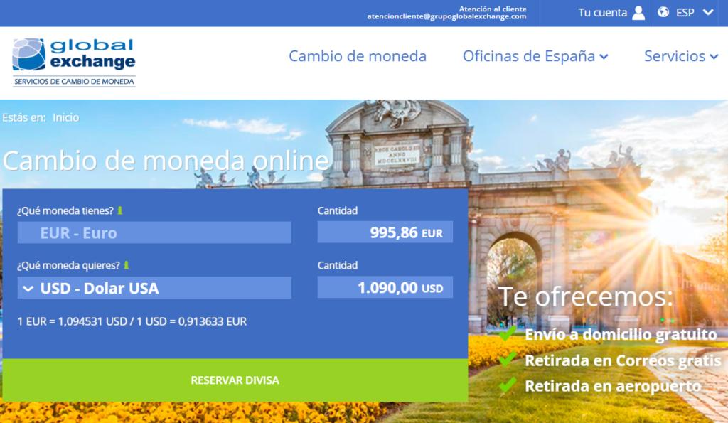 Página web de Global Exchange